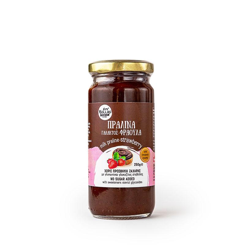 Πραλίνα γάλακτος φράουλα